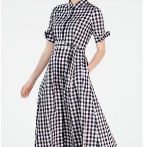 New Calvin Klein Gingham Midi Dress size 12